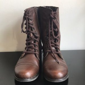 Steve Madden Troopa Combat Boot, Size 6